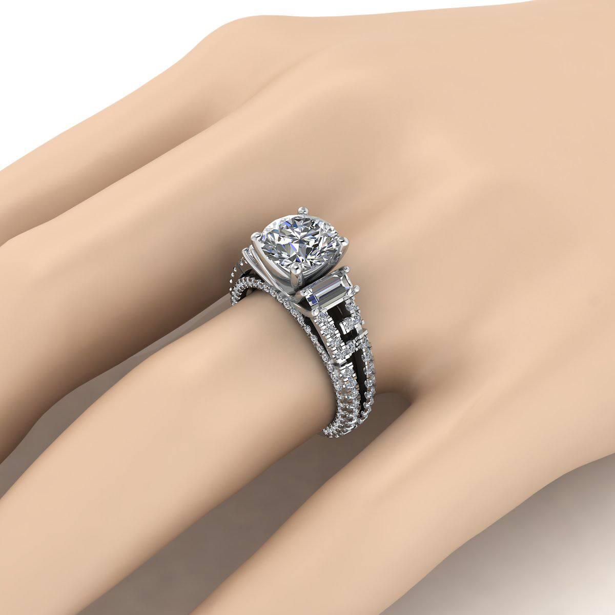 Monarch Pride 2 00 Ct Tw Diamond 14k Gold Engagement Ring