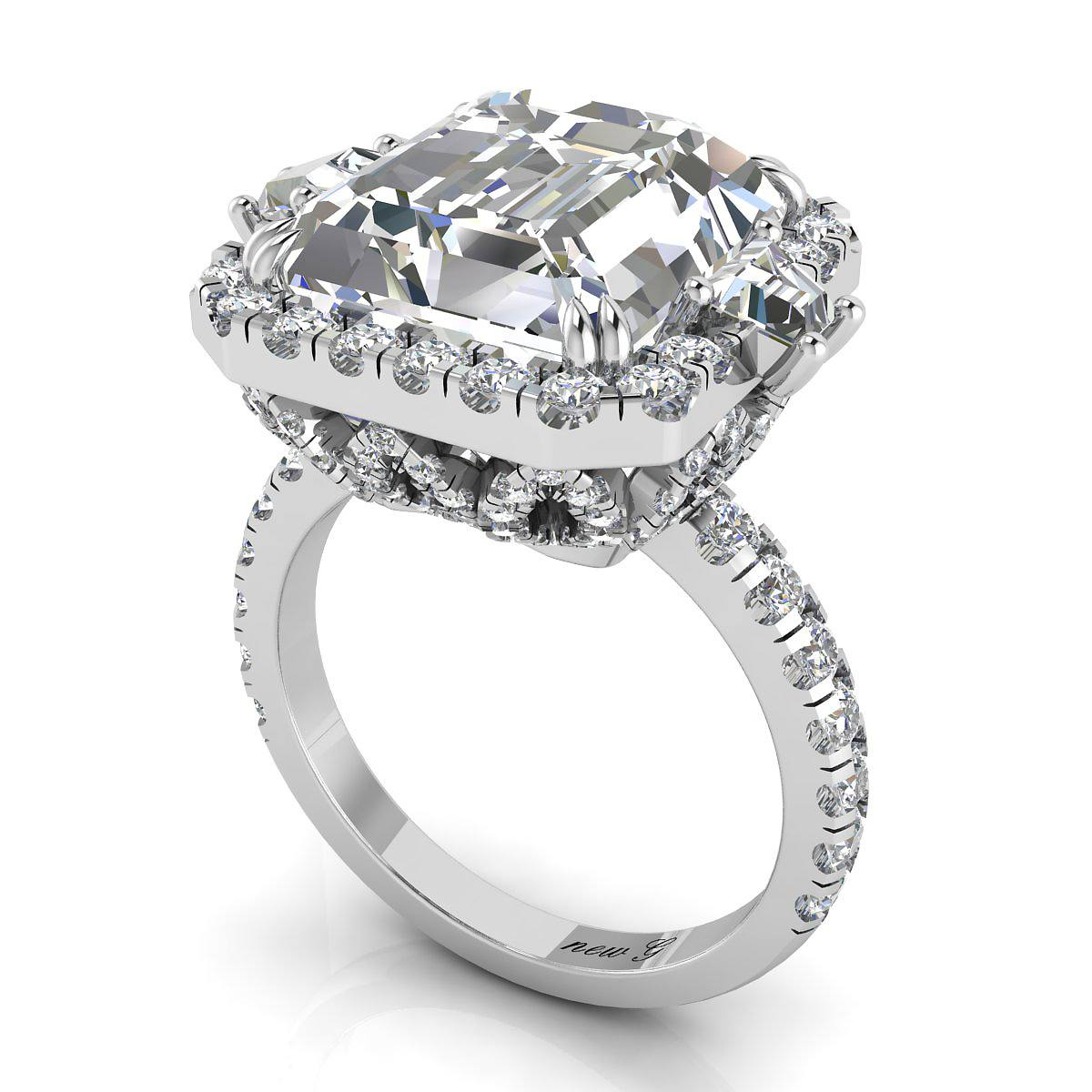 clarity 8 00 ct tw white sapphire 14k engagement