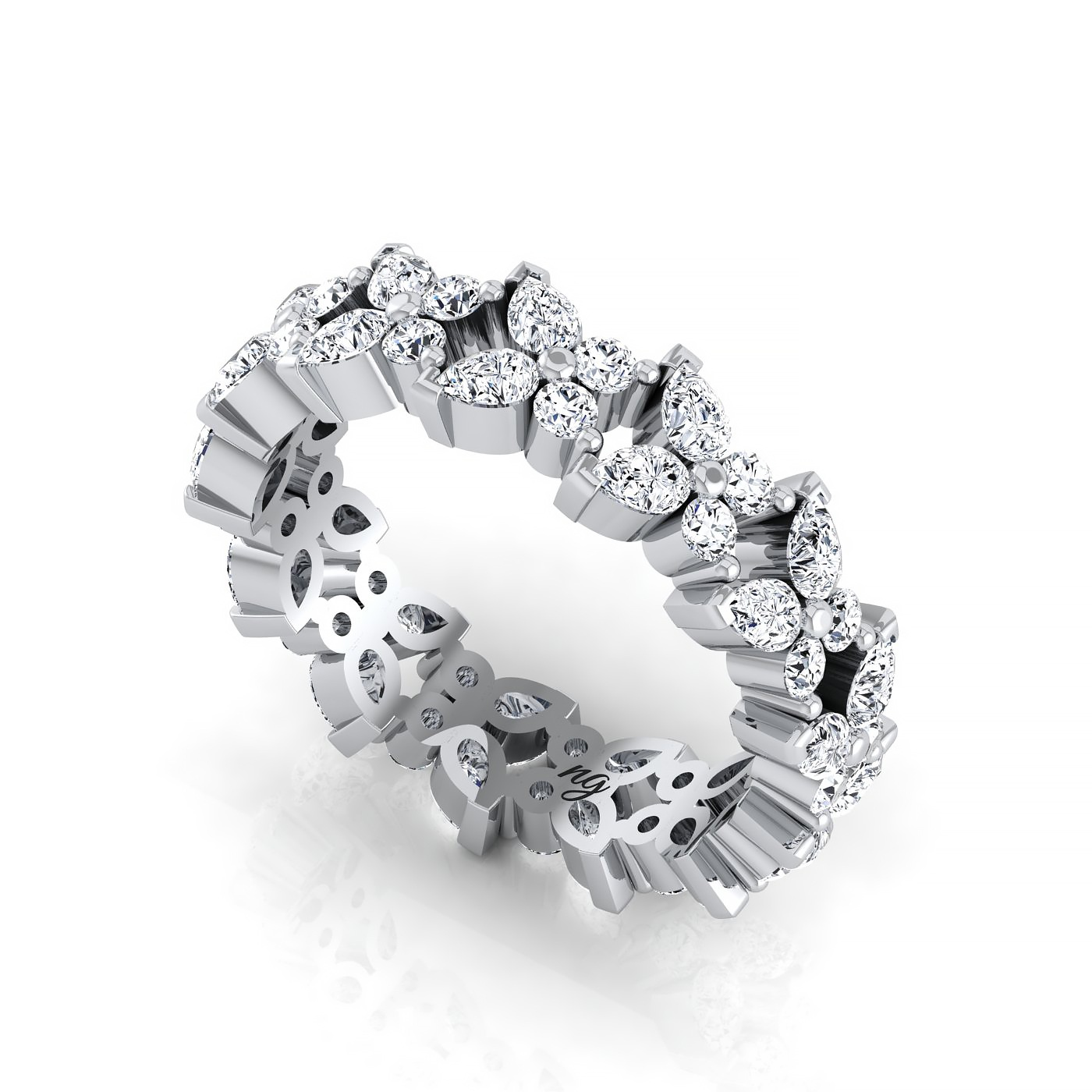 roll - Butterfly Wedding Ring