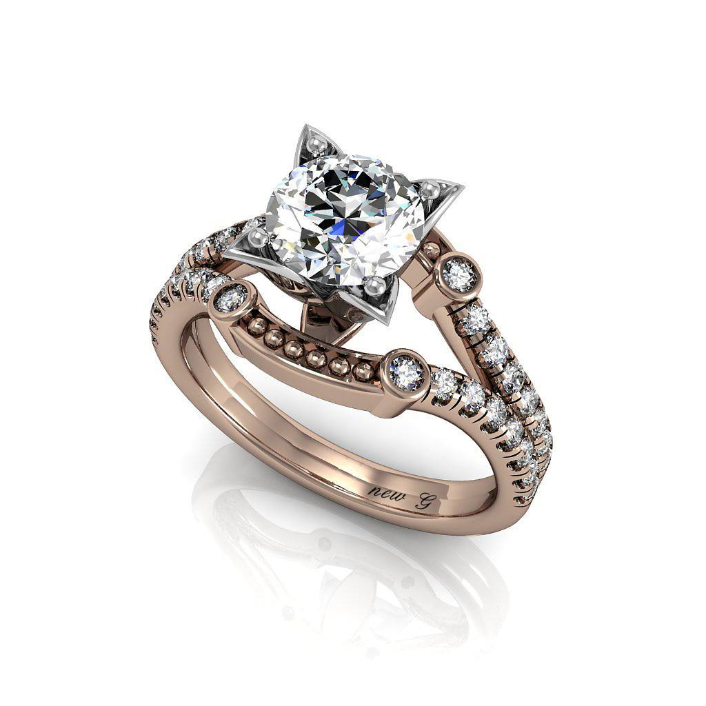 The Classic 1.00 CT. TW. White Sapphire 14K Gold Engagement Ring