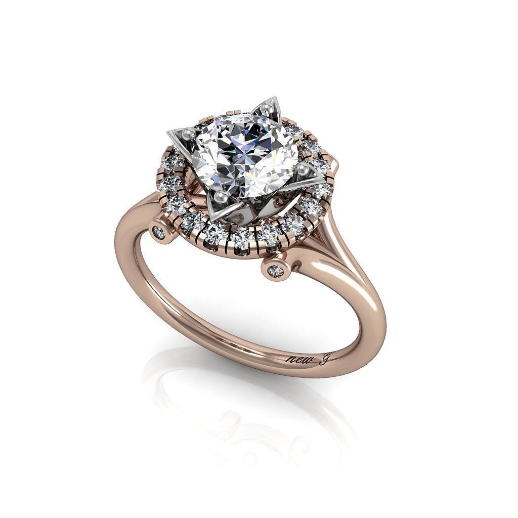 Metal Couture Platinum & Diamond Heart & Swallows Ring - UK M - US 6 - EU 52 3/4 wNnko