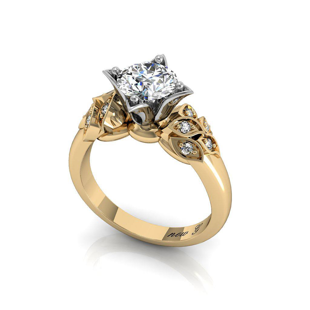 The Candela 1.00 CT. TW. White Sapphire 14K Gold Engagement Ring