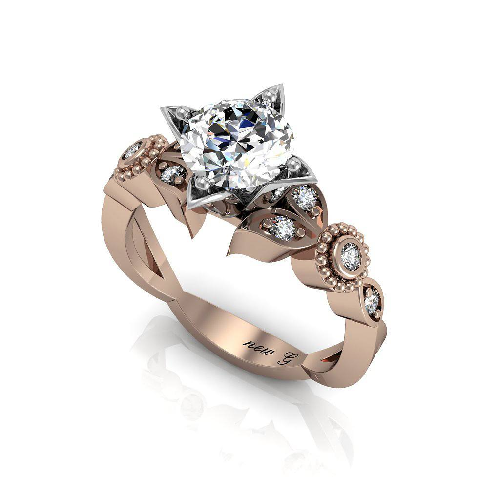 9188b1cc4d6fe Anam Cara Contemporary 1.00 CT. TW. White Sapphire 14K Gold Engagement Ring