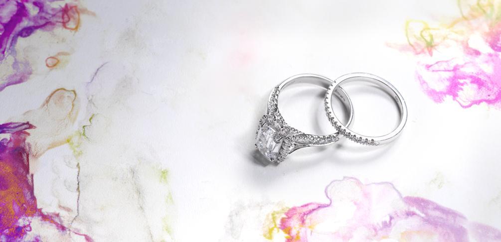 Engagement Ring Bridal Set