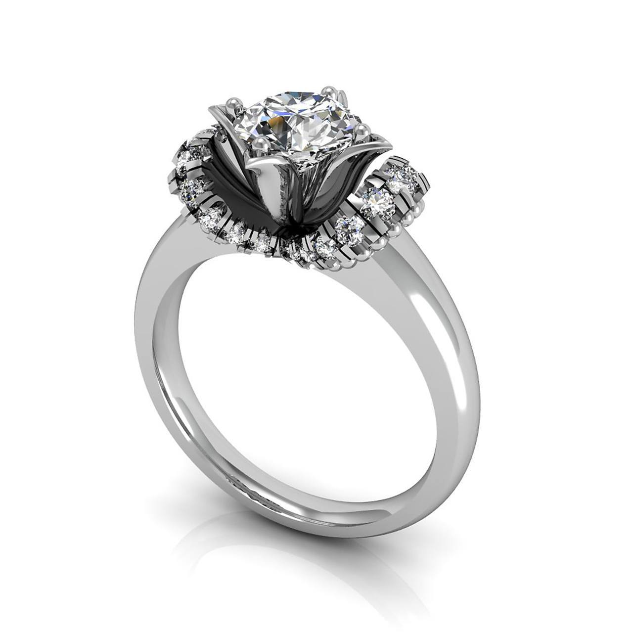 The Soigne 1.00 CT. TW. White Sapphire 14K Gold Engagement Ring