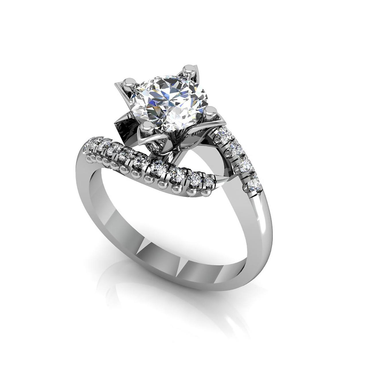 The Infinity 1.00 CT. TW. White Sapphire 14K Gold Engagement Ring