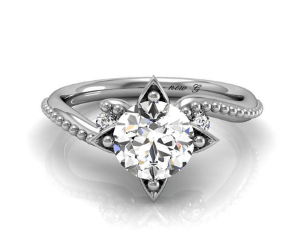 White Sapphire Promise Rings